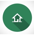 little house icon vector image vector image