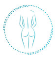 logo and icon for the masseur or orthopedic naked vector image vector image