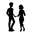 man and woman silhouette vector image