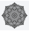 mandala circular monochrome pattern vector image vector image