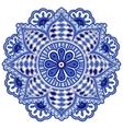 Mandala flower of circular elements Blue ethnic vector image vector image