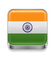 Metal icon of India vector image vector image