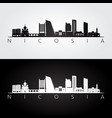 nicosia skyline and landmarks silhouette vector image vector image