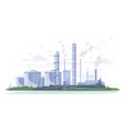 oil refinery landscape isolated vector image