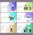 online business performance people working hard vector image vector image