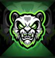 panda head esport mascot logo design vector image vector image