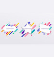 paper card and abstract colorful shapes neon vector image