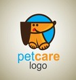 pet care logo 5 vector image vector image