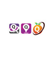 pin location fruit q template set vector image vector image