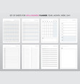 project life and business planner with open date vector image vector image