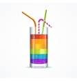Rainbow Cocktail Glass vector image vector image