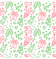 red and green light christmas seamless pattern vector image vector image