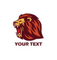 roaring lion logo vector image vector image