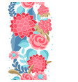 seamless pattern with gentle flowers vector image vector image