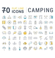 Set Flat Line Icons Camping vector image vector image