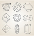 set geometric crystals vector image