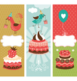 set of holiday vertical banners vector image