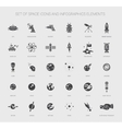 Set of space icons pictograms and infographics vector image