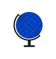 set sketch globe blue world icon vector image vector image