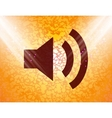 Speaker Flat modern web button and space for your vector image vector image