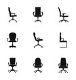 stool icons set simple style vector image vector image