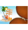 Summer vacation background with a zipper vector image vector image