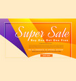 super sale banner poster template with offers and vector image vector image