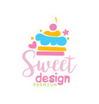 sweets premium logo design label for vector image vector image