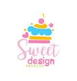 sweets premium logo design label for vector image vector image