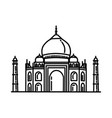 taj mahal india icon doodle hand drawn or outline vector image