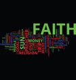 the power of faith in your online business text vector image vector image