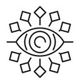 tribal eye alchemy icon outline style vector image vector image