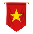 vietnam pennant vector image