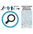 View Icon with 1000 Medical Business Symbols vector image vector image
