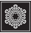 White lace snowflake vector image vector image