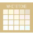 Whitetone Color Tone without Name vector image