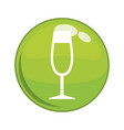 wine cup button icon vector image