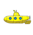yellow cartoon submarine vector image