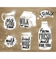 Milk symbolic drawing kraft vector image