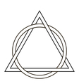 circle weave triangle tattoo vector image