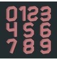 A set of numbers vector image vector image