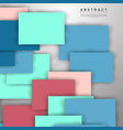 abstract background overlapping full-color square vector image vector image