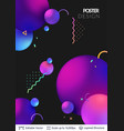 abstract poster design vector image vector image