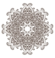 Abstract round lace design mandala vector image vector image