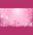 abstract valentines background as street view vector image vector image