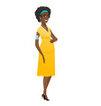 african-american pregnant woman listening to music vector image vector image