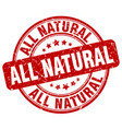 all natural red grunge stamp vector image vector image