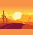 american road in desert arizona prairie landscape vector image vector image