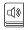 audio book line icon e learning and education vector image