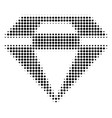 black pixel diamond icon vector image
